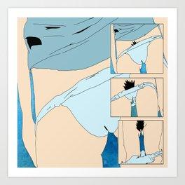 Shedding Skin Blues Art Print
