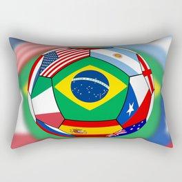 Ball With Various Flags Rectangular Pillow