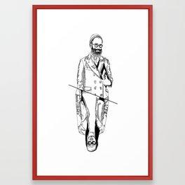 MENBEARD VS MENRAPPEUR Framed Art Print