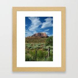 Grafton Fence Framed Art Print