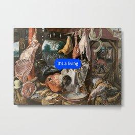 Blabs Stall Metal Print