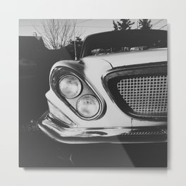 Classic 1960s Car Front Grille Metal Print