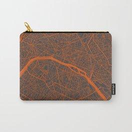 Paris Map #4 orange Carry-All Pouch