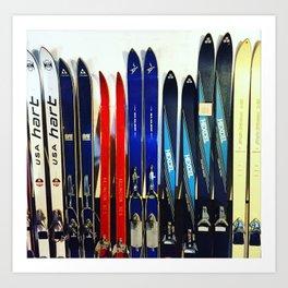 Vintage Ski Collection Art Print