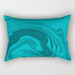 Akiko - spilled ink abstract minimal watercolor painting water pisces marble marbled Rectangular Pillow