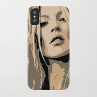 kate moss iPhone & iPod Cases featuring KATE MOSS by Christophe Chiozzi