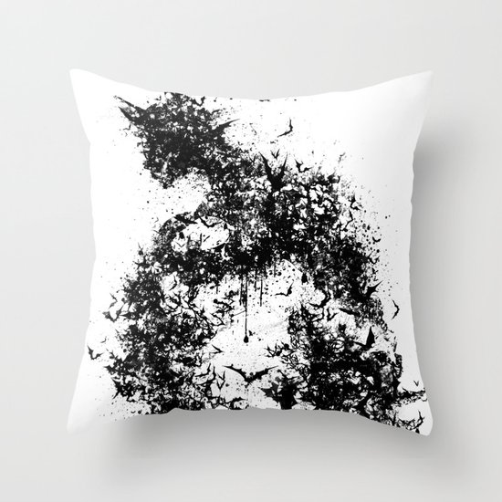A Dark Cave Throw Pillow