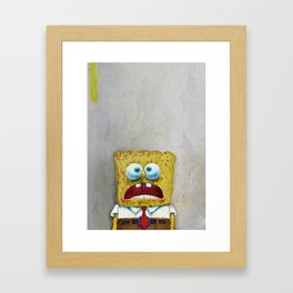 SPONGEBOB SCREAMING Framed Art Print