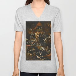 Hieronymus Bosch The Harrowing of Hell Unisex V-Neck