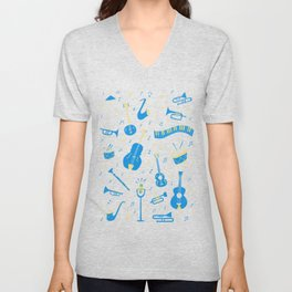 The Spirit of Jazz Pattern Unisex V-Neck