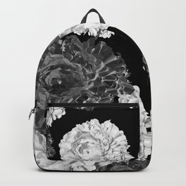 CABBAGE ROSES BLACK AND WHITE Backpack