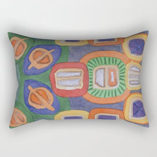Lying Robot Rectangular Pillow