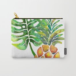 Monstera Pineapple Carry-All Pouch