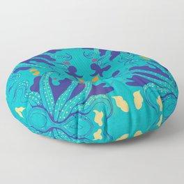 A Expedição do Biologista Artista -El P Floor Pillow