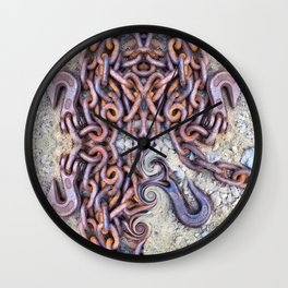 Chained hearts abstract photography Wall Clock