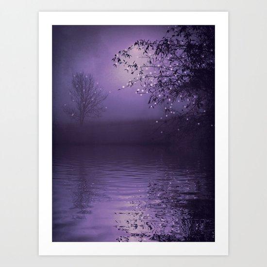 SONG OF THE NIGHTBIRD - LAVENDER Art Print