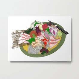Gorgeous Sashimi Set from Mr Sasaki Metal Print