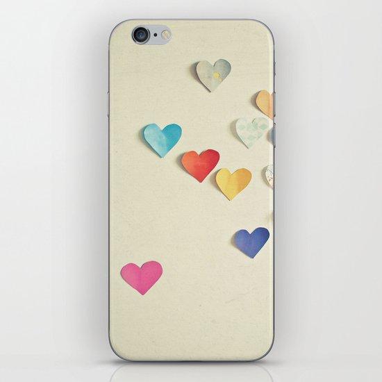 Paper Hearts iPhone & iPod Skin