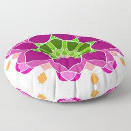 Mandala in crazy colors Floor Pillow