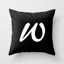 ALPHABET ....W Throw Pillow