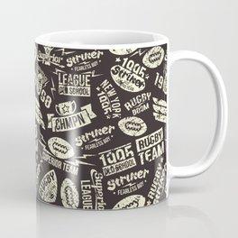 Sport rugby emblems pattern Coffee Mug