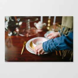 Setting The Table Canvas Print