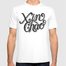 Xin Chào, Vietnam White Mens Fitted Tee MEDIUM