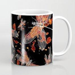 splatter gold dragon fly Coffee Mug