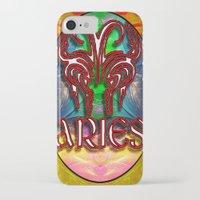 zodiac iPhone & iPod Cases featuring Aries Zodiac by CAP Artwork & Design