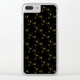 Art Deco: Glitter Gold Stars of Tangiers Pattern Clear iPhone Case