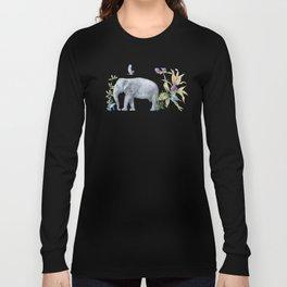 Elephants On Parade Illustration - Bagaceous Long Sleeve T-shirt