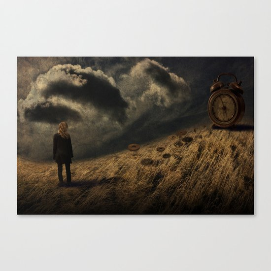 about the time Canvas Print