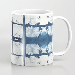Faded Japanese Shibori Coffee Mug