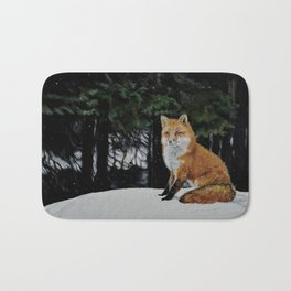 Red Fox of Algonquin by Teresa Thompson Bath Mat
