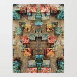 Toppled Ceramic Tiling 3 Poster