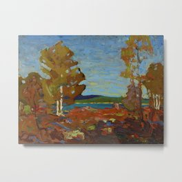 Tom Thomson Trees and Stump above a Shore 1916 Canadian Landscape Artist Metal Print