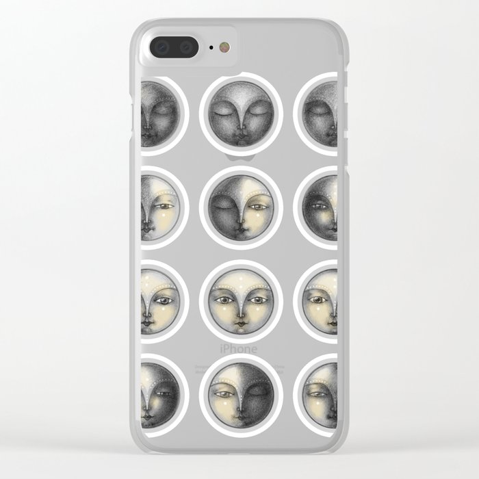 moon phases and romanticism Clear iPhone Case