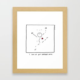 I Love All Your Scattered Parts Framed Art Print