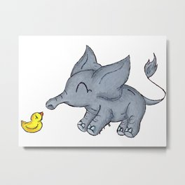 Ducky Buddy Metal Print
