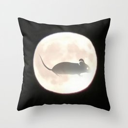 Mouse Moon Throw Pillow