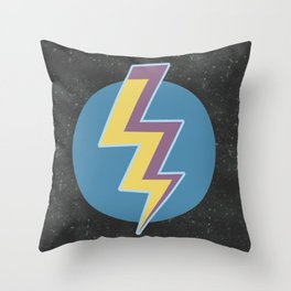 Thunder colors in the galaxy stars Throw Pillow