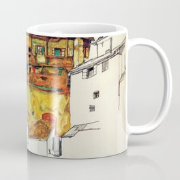 Egon Schiele - Old houses in Krumau 1914 Coffee Mug