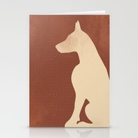 doberman Stationery Cards featuring Doberman Dog by ialbert
