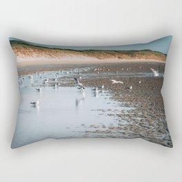 Low tide beach Rectangular Pillow