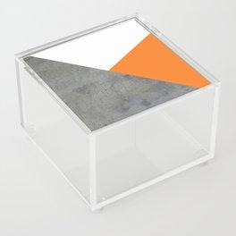 Concrete Tangerine White Acrylic Box