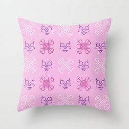 Cute Bones Throw Pillow