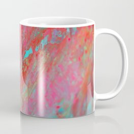 Colourful Nebula Universe Abstract Acrylic Painting Coffee Mug