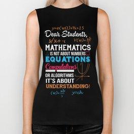 T-Shirt For Math Teacher. Gift Ideas Biker Tank