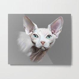 Sphynx cat painting Metal Print