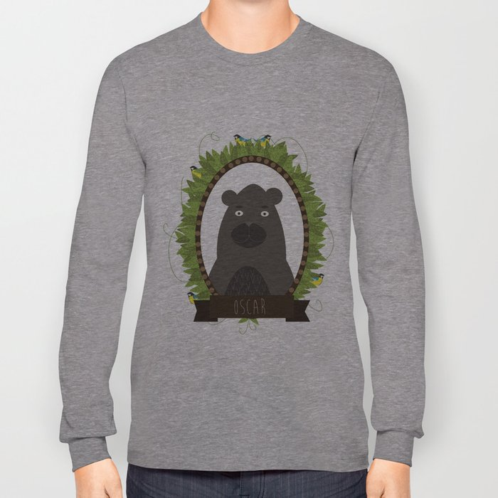 Oscar bear portrait Long Sleeve T-shirt